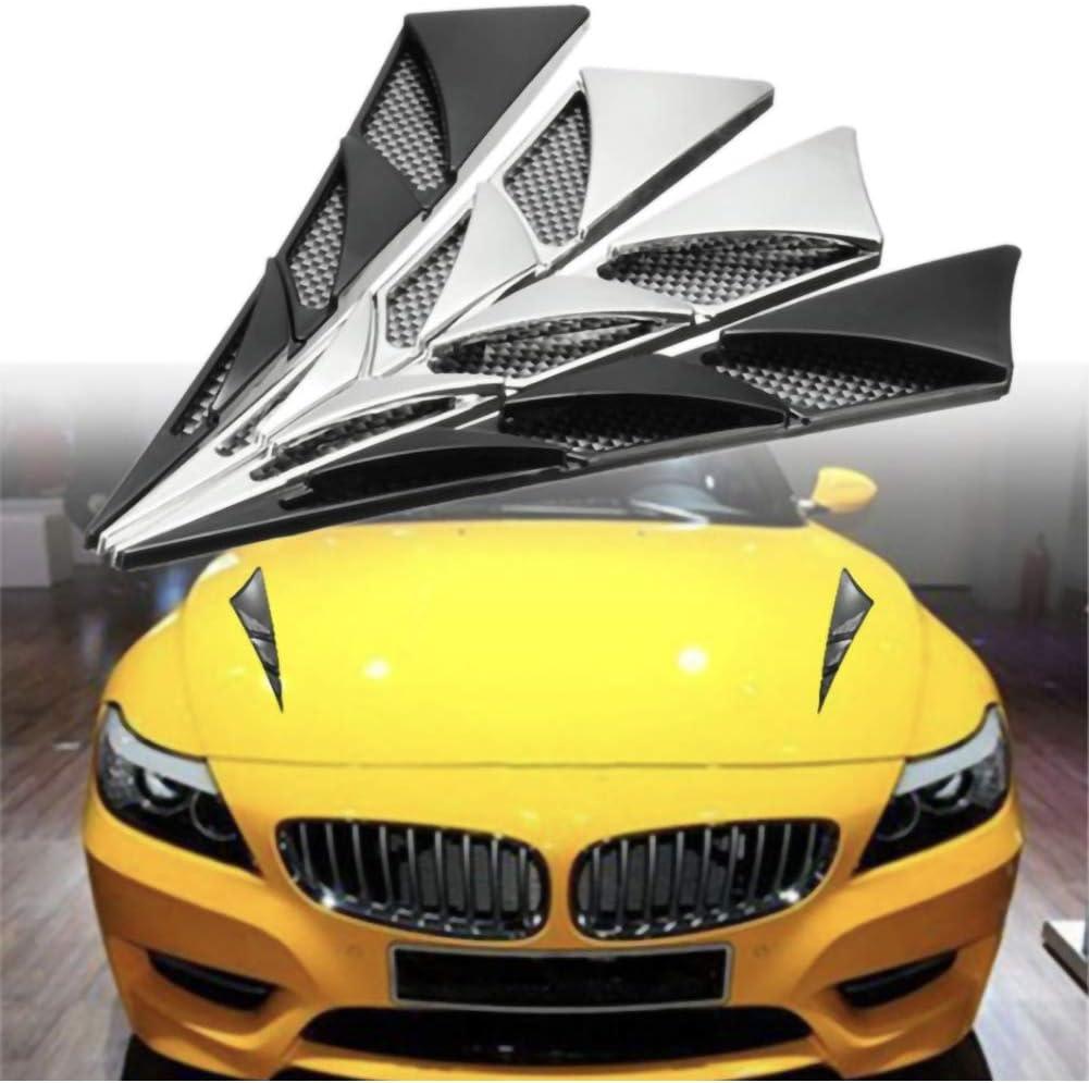 LULUKO 1 Pair Universal Car Decor Air Flow Intake Scoop Bonnet Simulation Vent Cover Hood
