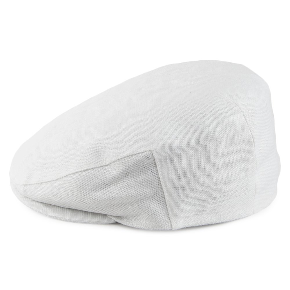 Gorra plana de lino de Failsworth - Blanco: Amazon.es: Ropa y ...