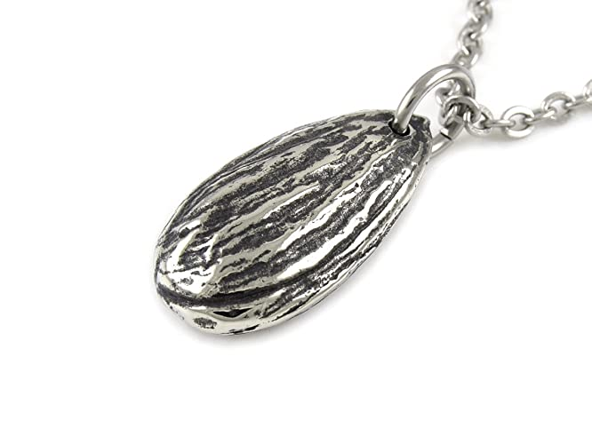 Amazon almond nut pendant necklace in pewter nature jewelry almond nut pendant necklace in pewter nature jewelry aloadofball Gallery