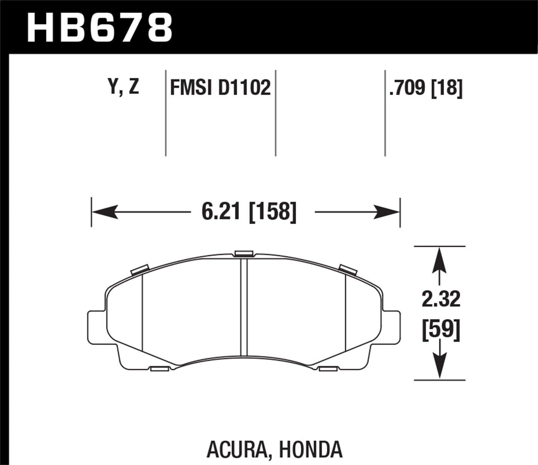 Hawk Performance HB678Z.709 Performance Ceramic Brake Pad