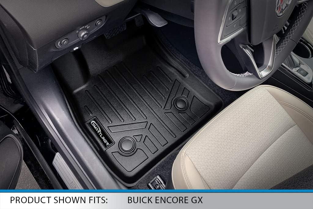 SMARTLINER All Weather Custom Fit Floor Mats 1st Row Liner Set Black for 2020-2021 Buick Encore GX// 2021 Chevrolet Trailblazer