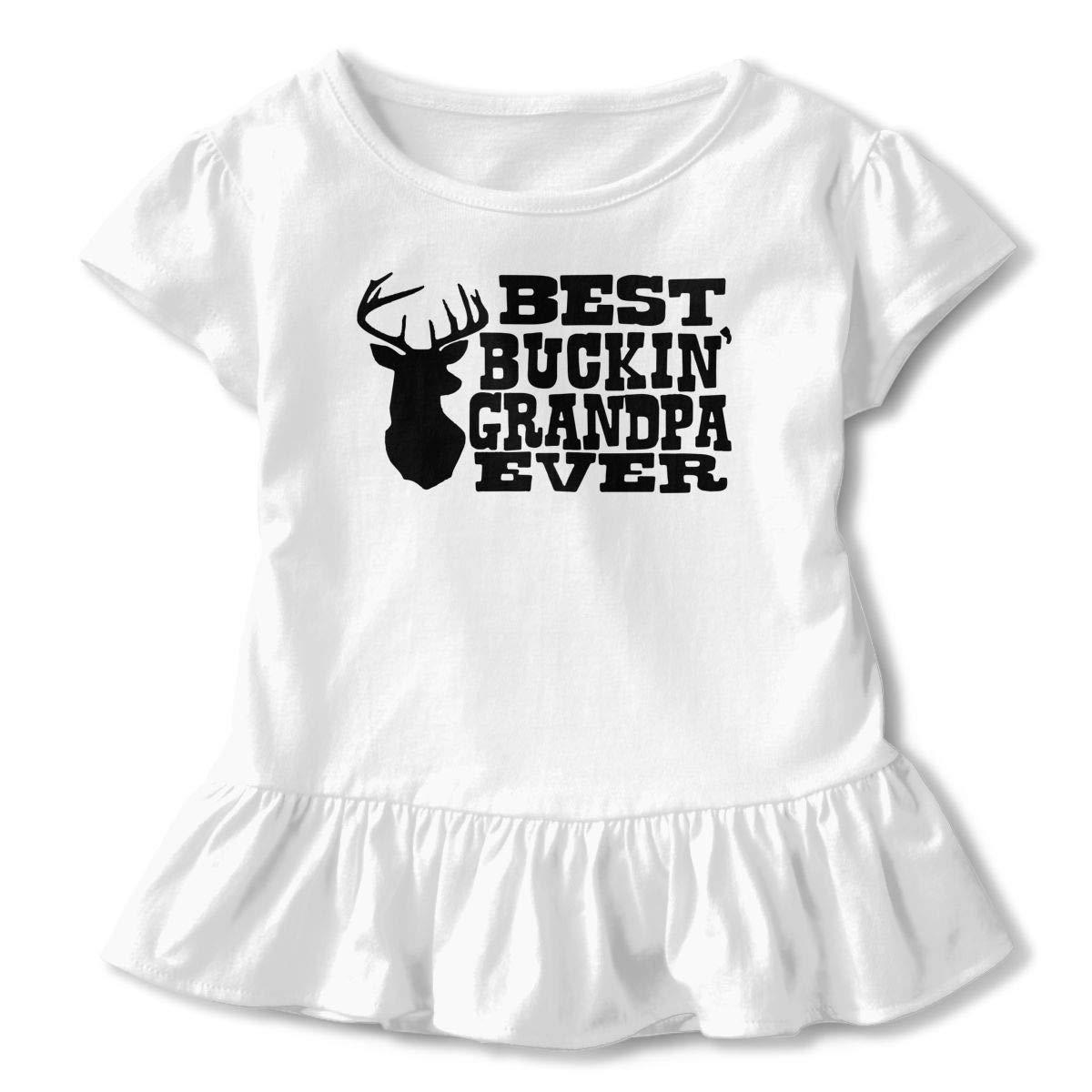 744508a63615 Amazon.com: Girls' Short Sleeve Best Buckin' Grandpa Ever Shirts ...