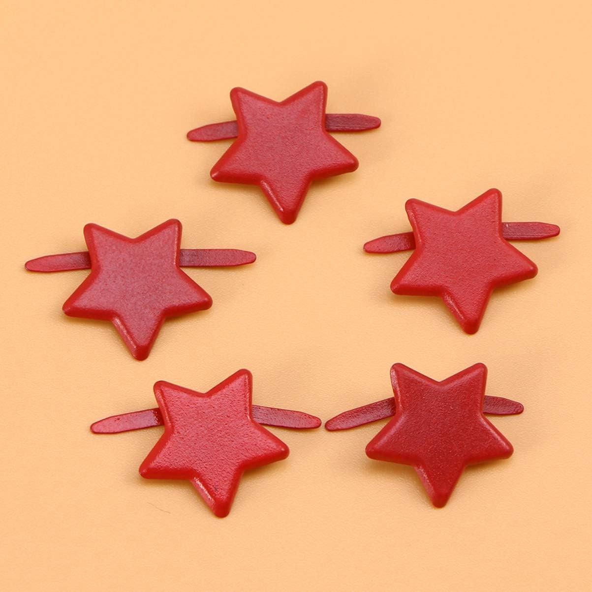 Healifty Star Brads Metal Scrapbooking Brads Embellishment Paper Fastener for DIY Crafts 14mm 200pcs Golden