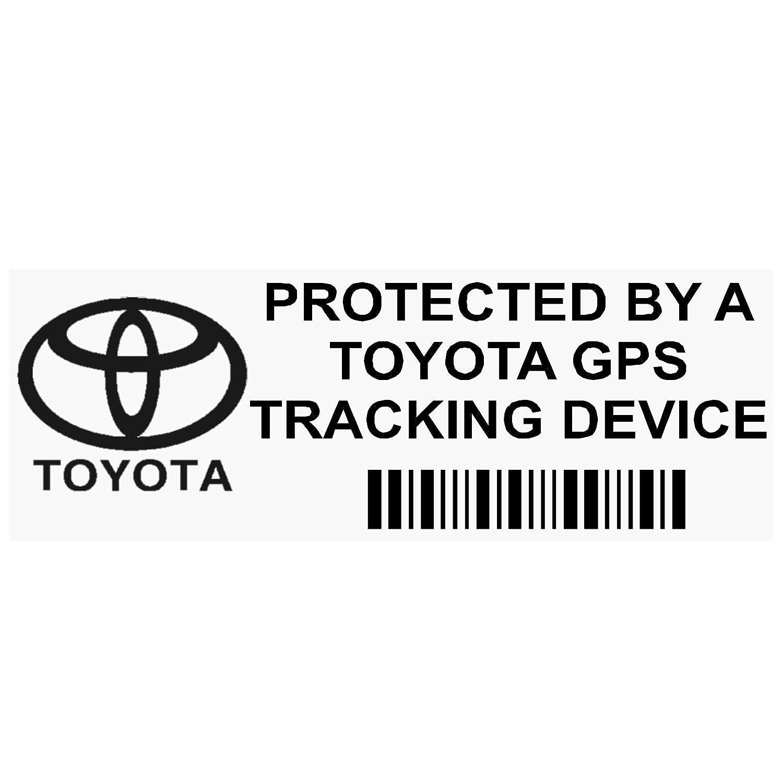 Platinum Place 5 x PPTOYOTAGPSBLK GPS BLACK Tracking Device Security WINDOW Stickers 87x30mm-Car,Van Alarm Tracker