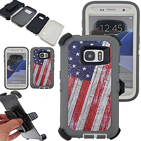 Galaxy S7 Case,Kecko® Heavy Duty Protection Shock Reduction / Bumper Case Shockproof Dirtproof Defender Camo Cover Case w/ Built-in Screen Protector For Samsung galaxy S7 Cover Case - Camo Cell Phone Cover