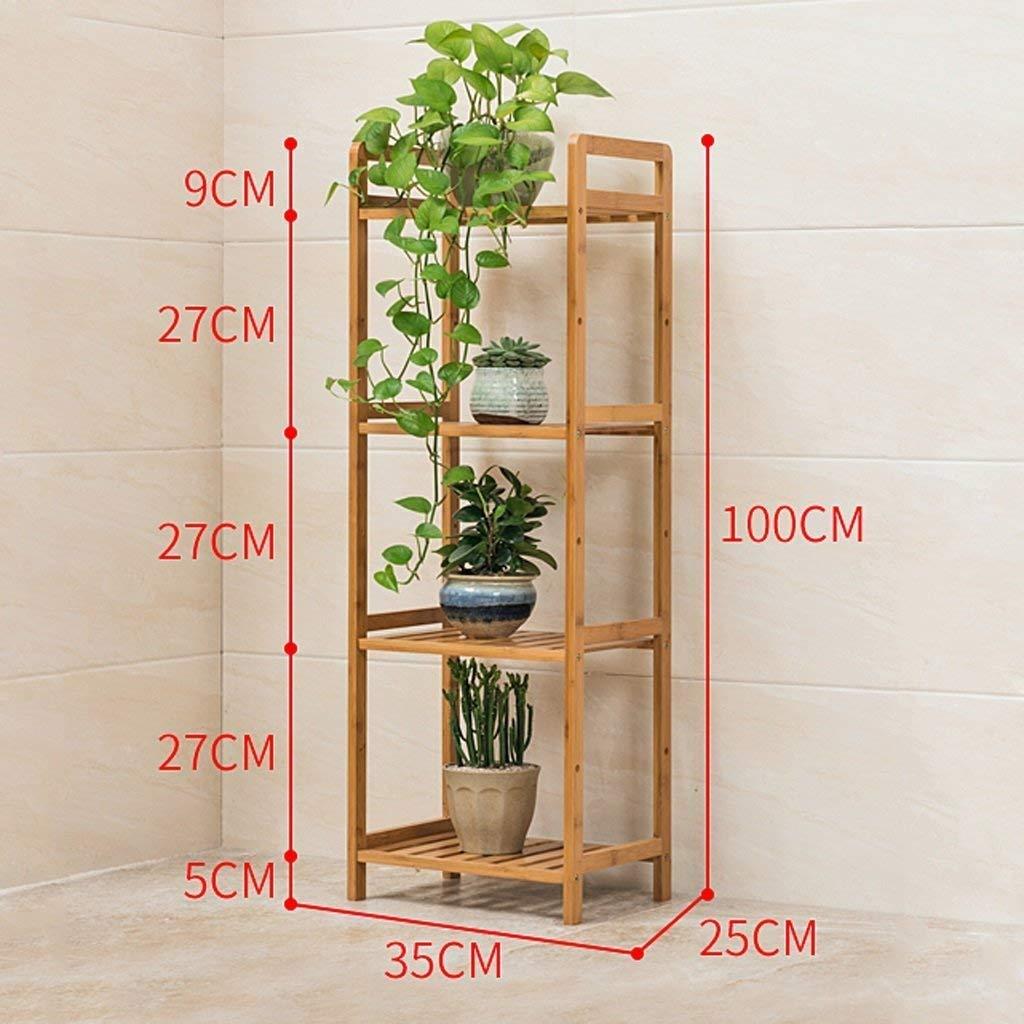 Genven Espositore Vintage Multi-Funzionale Balcone di bambù, Soggiorno Multi-Strato Vaso di Fiori Rack, Tre IZE Sono opzionali tand di pianta (IZE  68cm) (Dimensione   35cm)