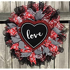 Valentine LOVE Wreath | Door Hanger | Door Wall Decor | FREE Shipping | Burlap Bowtique 17