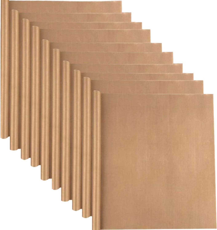 10 Pack PTFE Teflon Sheet for Heat Press Transfer Sheet 16