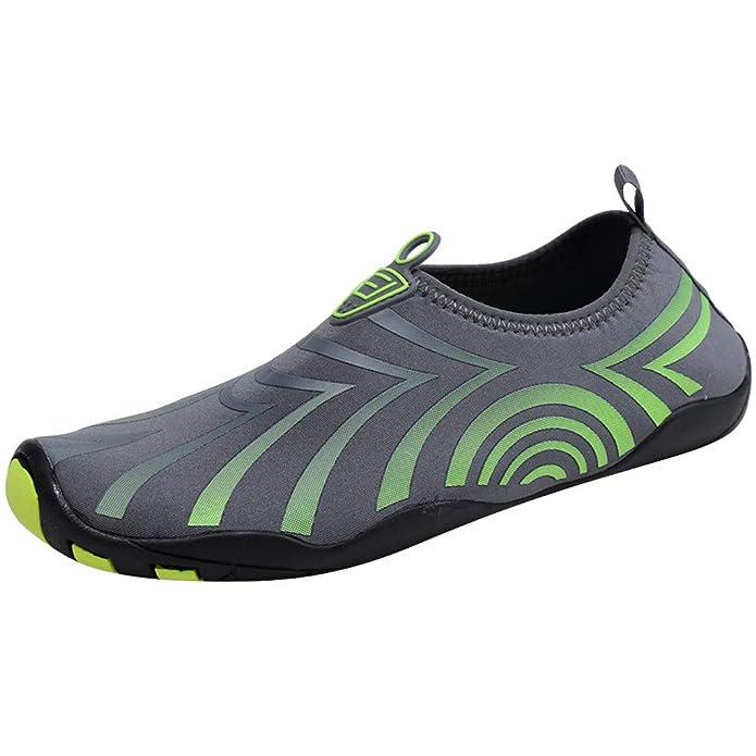LHWY Zapatillas Mocasines de Deportes Calzado de Agua para Hombre Natación Descalzo Buceo Surf Yoga Deportes acuáticos Playa Caminar Yoga: Amazon.es: ...