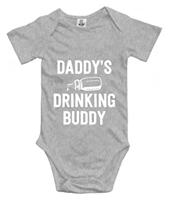 2411fd904 BYSYSCASSIIT Infant One Piece Bodysuit Daddy's Drinking Buddy Funny Cute  Novelty Baby Bodysuit Infant One Piece