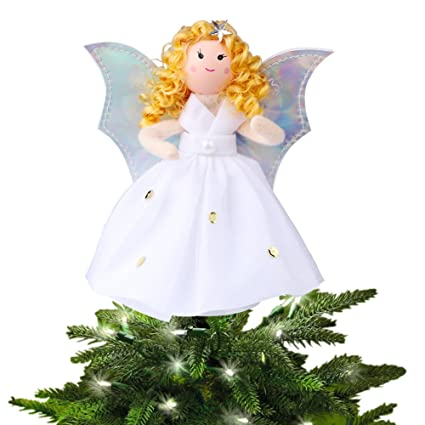 Aytai Small Angel Christmas Tree Topper 7 Inch Angel Ornaments For