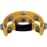 GEWA 841575.0 - Tambor de mano redondo, media luna, 20 sonajas, color amarillo