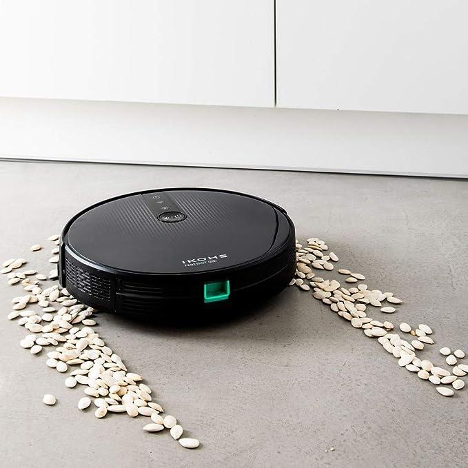 IKOHS NETBOT S18 - Robot Aspirador 4 en 1, con Mapeo y App, Potencia de Succión 1800 Pa, Navegación Inteligente, Sensores Anticolisión y Anticaídas, ...