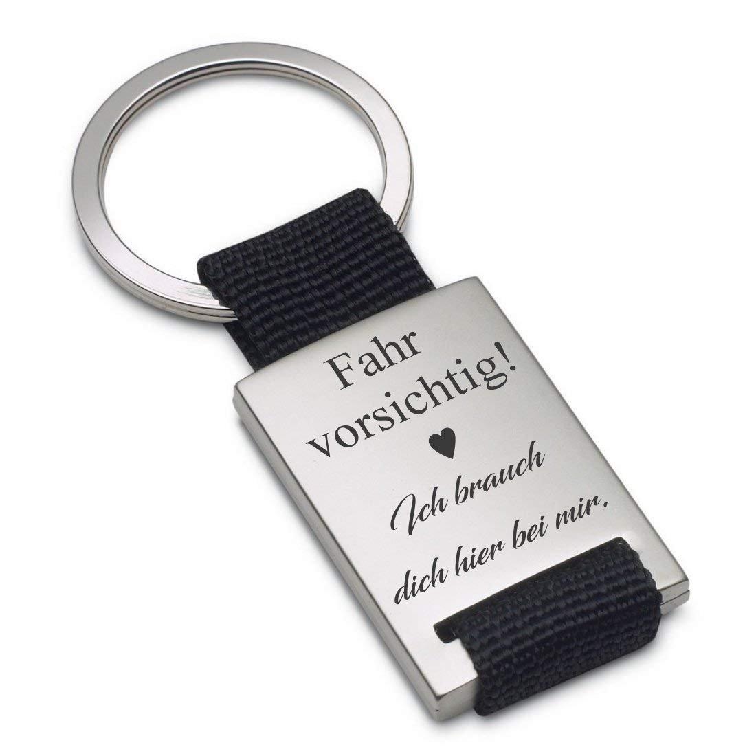 Lieblingsmensch Schlüsselanhänger Modell: Fahr vorsichtig - ich brauch dich (Ausgestanztes Herz) lm11006