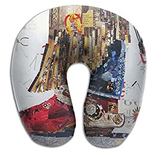 Lesi Yes U-Shape Neck Pillow Memory Foam Comfortable Texas Cowgirl Boot Creative Indoor Outdoor Travel Airplane Car Office School