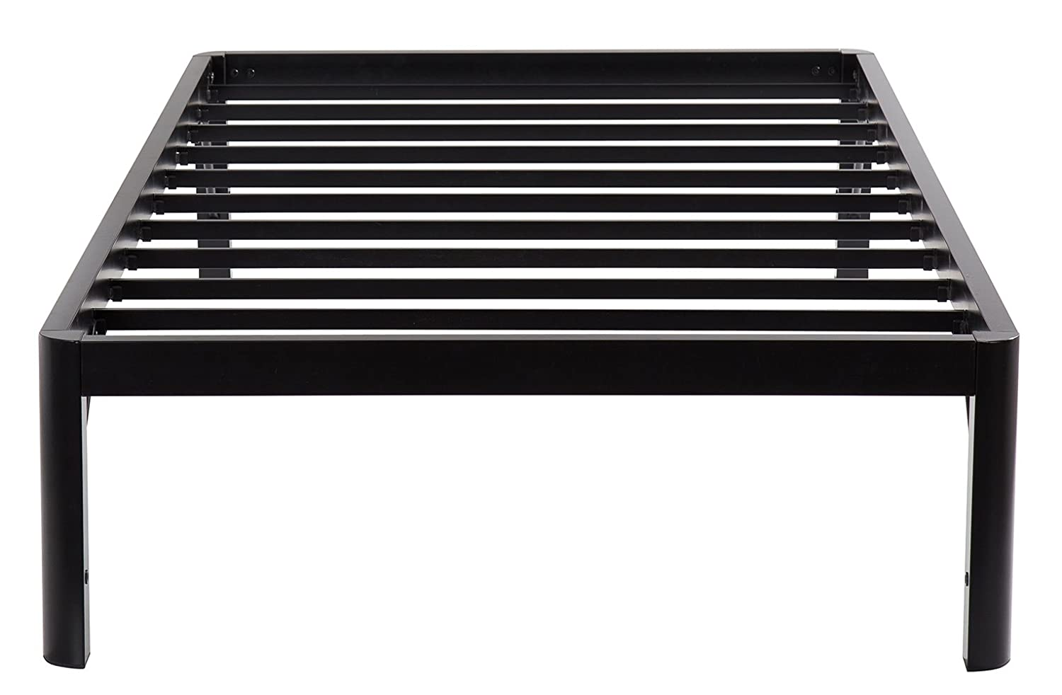 Olee Sleep 14 inch Tall Round Edge Steel Slat Non-slip Support Bed Frame S-3500, OLR14BF10T Twin