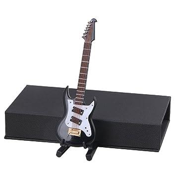 yibuy 12 x 4,5 x 0.6 cm Mini instrumento guitarra eléctrica modelo ...
