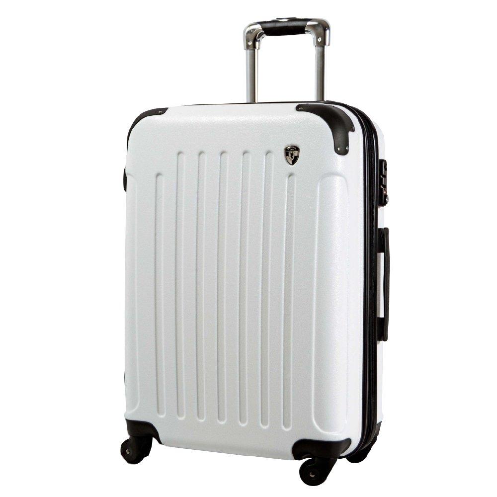 [グリフィンランド]_Griffinland TSAロック搭載 スーツケース 超軽量 マット加工 newFK10371 ファスナー開閉式 B072JVGKD3 LM型|ホワイト ホワイト LM型