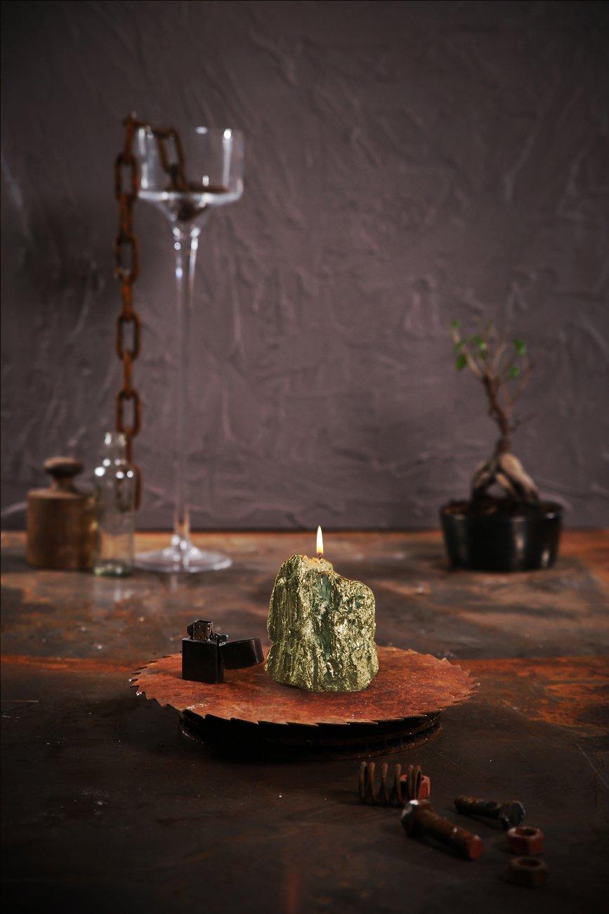 Candellana Candles 5902841367623 Rock Big Candles Classic Gold