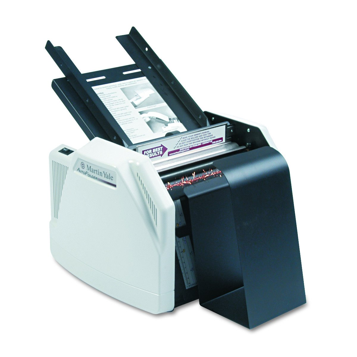 Martin Yale 1501X Automatic Paper Folder, Operates at a Speed of up to 7,500 Sheets per Hour, 150 Sheets Feed Table capacity, Up to 3 Sheets Manual Paper Feed