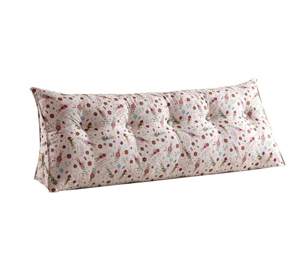 ベッドサイド背もたれトライアングルベッド枕ソファ大きなロングクッション/枕の腰の枕はクッションを読むベージュ (サイズ さいず : 100 * 50 * 22cm) B07DK8FR2W 100*50*22cm  100*50*22cm