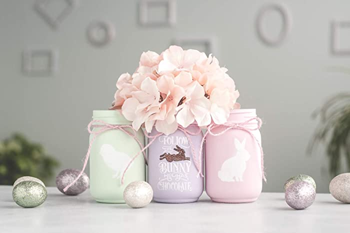 Amazon Com Easter Centerpiece Decor Vases Painted Mason Jars Handmade