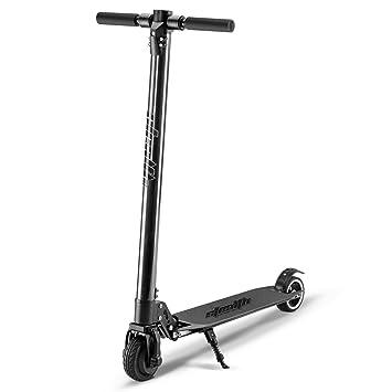 Fitfiu - Fitness Patinete Eléctrico plegable, Carbono y Aluminio, 250W, Alcance 30km/h