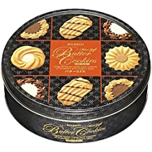 Bourbon Japanese Butter Cookies Assorted Biscuit Tin 10.93 oz (60 pc)