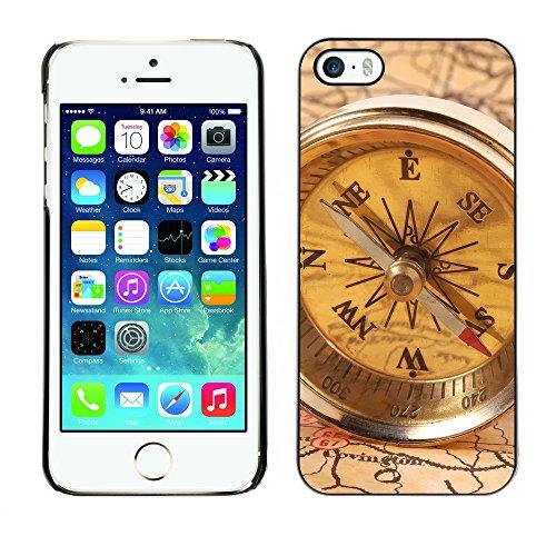 Hülle Case Schutzhülle Cover Premium Case // V00002563 Kompass // Apple iPhone 5 5S 5G