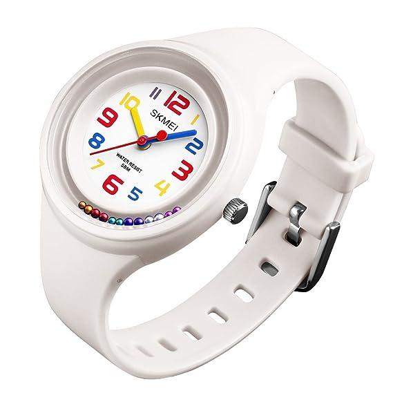 Reloj digital deportivo para niños, analógico, de cuarzo, resistente al agua, para