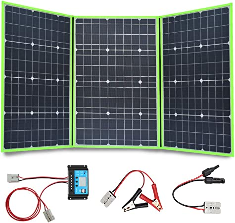 10W 5V Foldable Solar Panel Portable Outdoor Camping Caravan Battery Charger USB