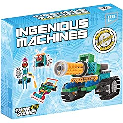 ThinkGizmos TG633 Ingenious Machines Remote Control Robotic Building Kit For Kids with Batteries