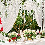 DearHouse-6-Pack-375-FeetPiece-Artificial-Fake-Wisteria-Vine-Ratta-Hanging-Garland-Silk-Flowers-String-Home-Party-Wedding-Decor-6PCS-Large-White-Wisteria