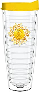 product image for Smile Drinkware USA-SWIRLY SUN 26oz Tritan Insulated Tumbler With Lid and Straw