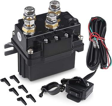 12V Solenoid Relay Contactor Winch Rocker Switch Thumb /& 6 Connector Cap ATV UTV