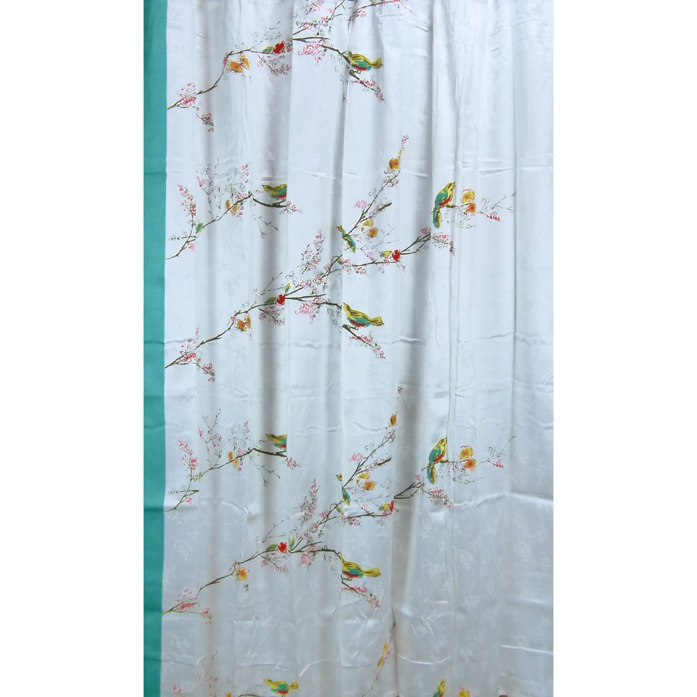 Colorful shower curtain - Amazon Com Lenox Simply Fine Chirp Shower Curtain Multi Color Home Kitchen
