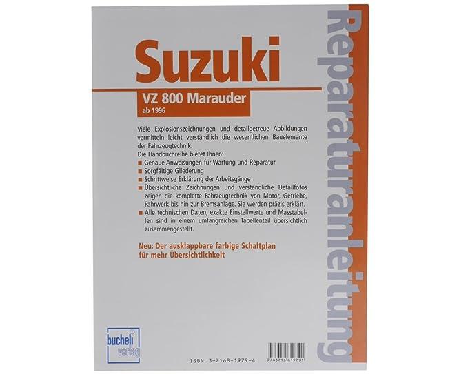 Reparaturbuch Suzuki VZ 800 Marauder (ab 1996) Wartung Buch ...