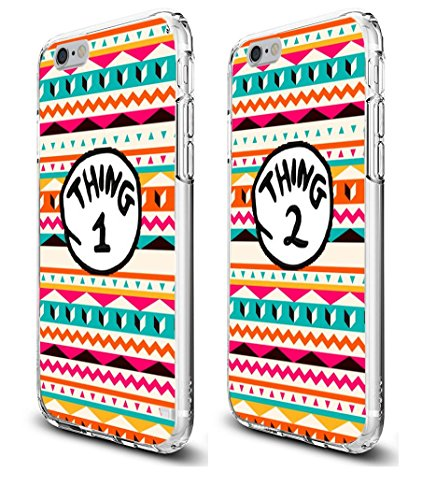 Shark Thing 1 2 3 Desgn Lovers Couple Best Friends Aztec Matching Cases for (Left:for iphone 6 PLUS&Right:iphone 7 PLUS)