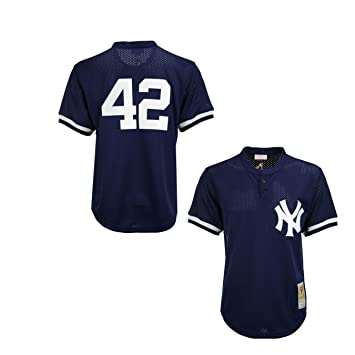new arrival 8e9fe 24c3f Mitchell & Ness Mariano Rivera Navy New York Yankees Authentic Mesh Batting  Practice Jersey