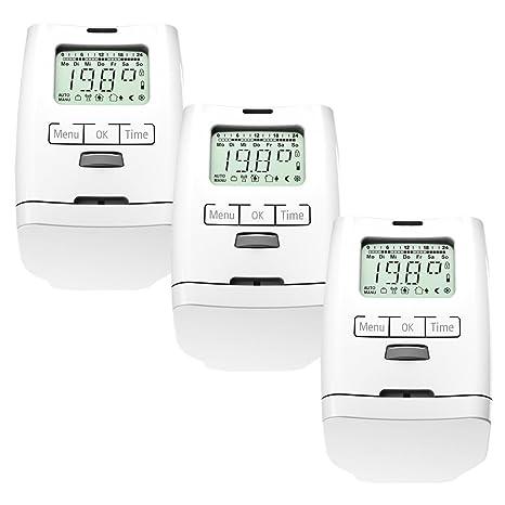 Conjunto de 3 programable para radiadores-termostato (ahorro de energía) HT 2000 unidades