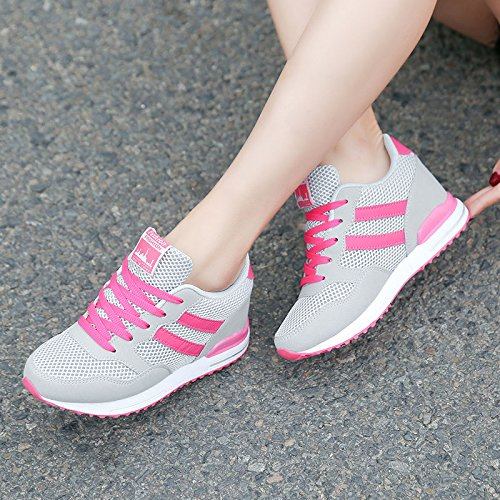 GTVERNH Damenschuhe Mode Sommer - Schuhe Licht Studenten Atmungsaktive Single - Net - Oberfläche Licht Schuhe Reisen Schuhe Erhöhte Laufschuhe. af0bf1