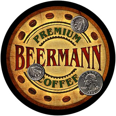 Beermann Family Coffee Rubber Drink Coasters - Set of 4