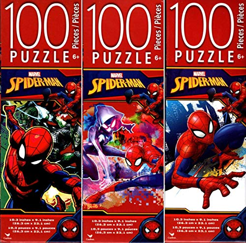 Marvel Spider - Man - 100 Piece Jigsaw Puzzle ( Set of 3)