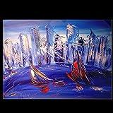 """Mark Kazav - 24"""" Original Paintings - Artwork - New York - Landscape - Pop Art - Modern art"""