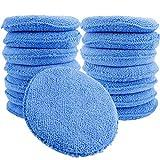 wax applicator pad - Augshy 15 Pcs Standard Microfiber Applicator Pads - Blue Wax Applicator