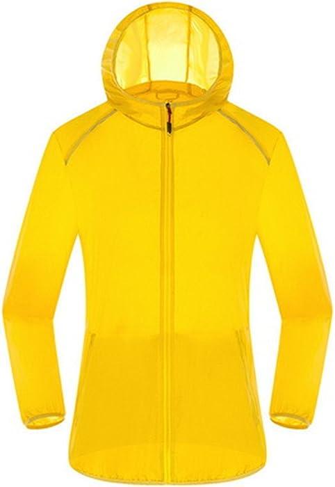 Jamemcabin Ultra Light Basic Jacket Women Men Waterproof Coat Summer Windbreaker Girls Female Jackets Hooded Yellow XXL at Amazon Mens Clothing store:
