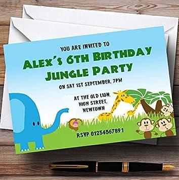 safari themed birthday party invitations