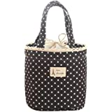 Lunch Bag, Clearance! Tloowy Portable Thermal Insulated Lunch Tote Bag Cute Dots Print Lunch Box Organizer Holder Cooler Bag for Women, Kids, Girls, and Teen Girls