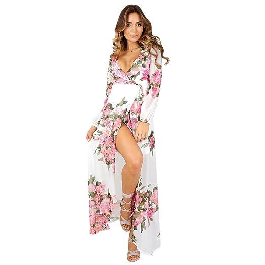 46cc3756095 Fabal Women Summer Vintage Boho Long Maxi Party Beach Dress Floral Sundress  New (S