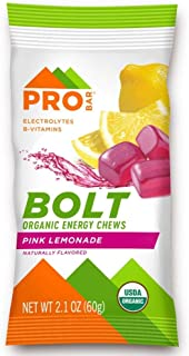 product image for Probar - Bolt Organic Energy Chews, Non-GMO, Gluten-Free, USDA Certified Organic, Healthy, Natural Energy, Fast Fuel Gummies with Vitamins B & C (2) Pink Lemonade, 12 Count (Pack of 1) 1 Count